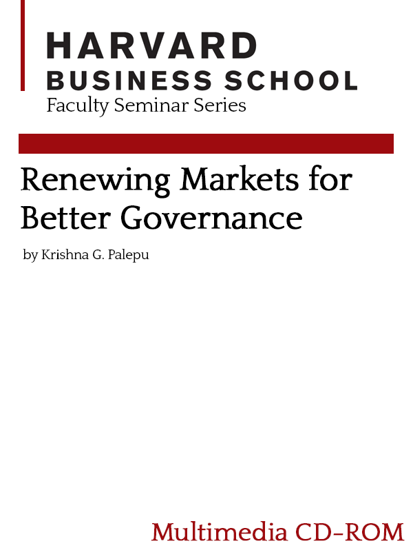 Renewing Markets for Better Governance
